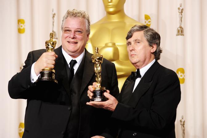 Tom Fleischman e John Midgley, miglior sonoro, «Hugo Cabret» (Afp)