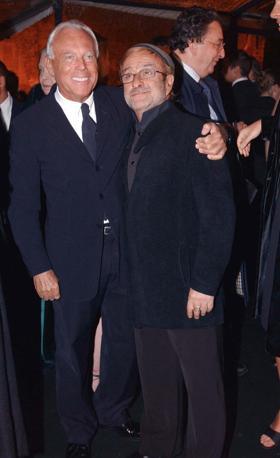 Con Giorgio Armani (Olycom)