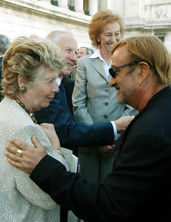 Con la signora Franca Ciampi e il presidente Carlo Azeglio Ciampi (Ansa)