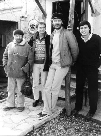 Da sx Lucio Dalla, Ron, Francesco De Gregori, Gianni Morandi nel 1978 (Fotogramma)