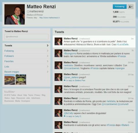 Il saluto commosso del sindaco di Firenze Matteo Renzi