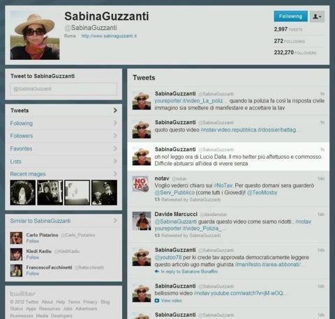 E quello di Sabina Guzzanti