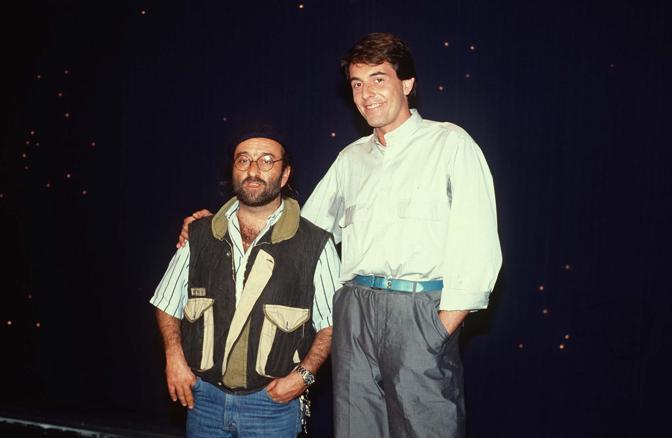 Carlo Massarini e Dalla (Olycom)