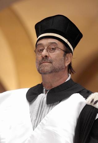 Alla consegna della laurea honoris causa conferitagli dall' Universita' di Bologna in Lettere e Filosofia delle Arti musica e spettacolo (Olycom)