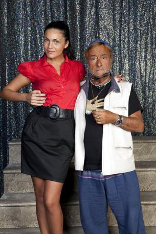 Durante le prove della Tosca con Rosalia Misseri (Olycom)