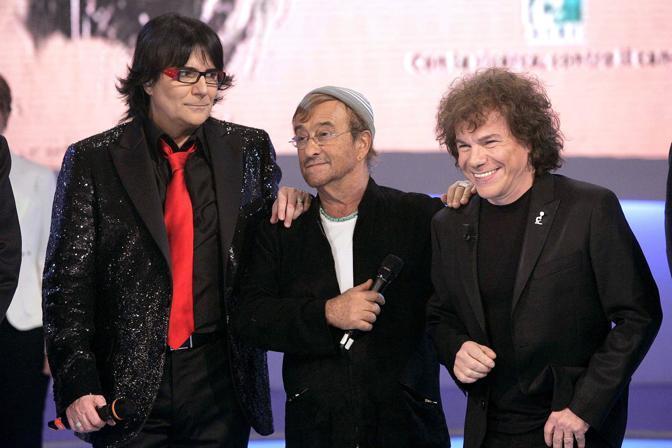 Dalla, Zero e Riccardo Cocciante (Olycom)