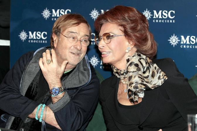 Con l'attrice Sophia Loren (Olycom)
