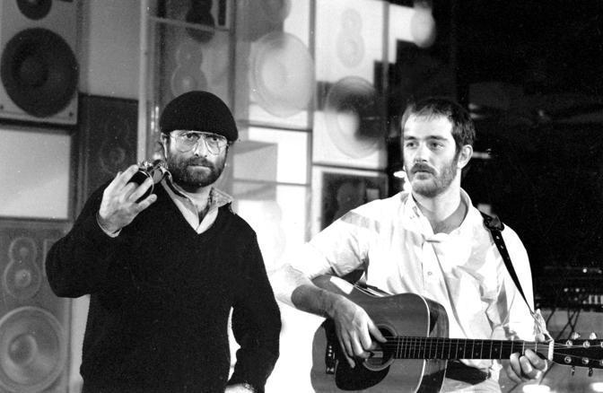 Lucio Dalla con Francesco De Gregori ai tempi di Banana Republic nel 1979 (Olycom)