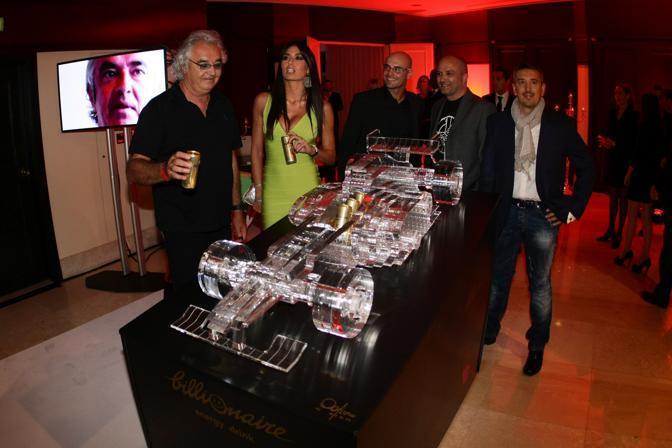 Flavio Briatore ed Elisabetta Gregoraci ospiti all'apertura estiva del Billionaire a Montecarlo (Olycom)