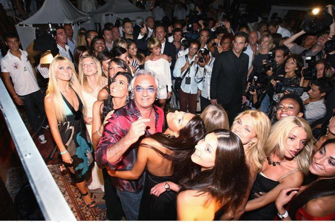 Flavio Briatore ed Elisabetta Gregoraci a una festa di apertura della stagione al Billionaire (Olycom)