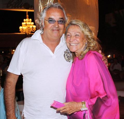 Briatore con Marta Marzotto (Olycom)