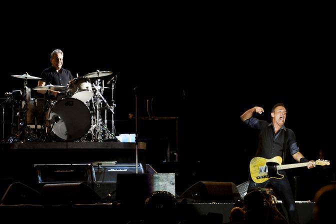 Bruce e Max Weinberg (Afp)