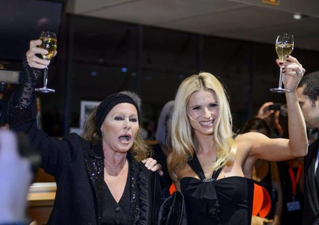 Ursula Andress e Michelle Hunziker (Afp)