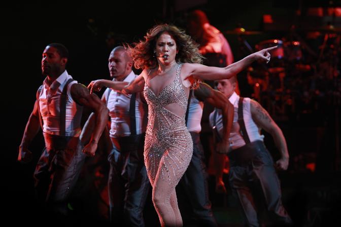 Jennifer Lopez in concerto a Shanghai (Ap)