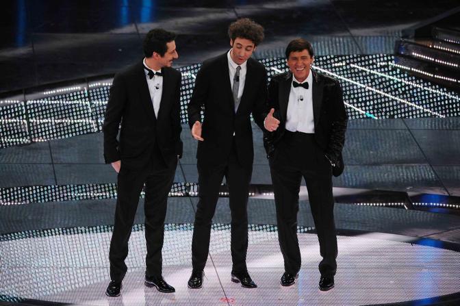 Luca, Paolo e Gianni Morandi   (La Presse)