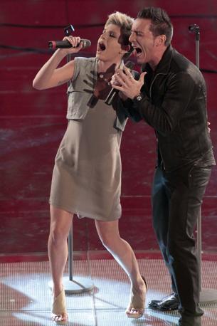 Emma, favorita per la vittoria finale, sul palco (Italy Photo Press)