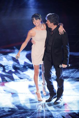 Luca Barbarossa e Raquel del Rosario (Olycom)
