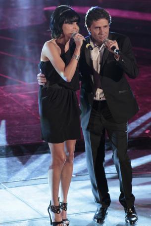 Raquel del Rosario con Luca Barbarossa (Italy Photo Press)