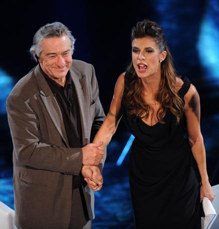 Robert De Niro con Elisabetta Canalis (Ansa)