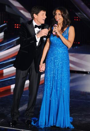 Gianni Morandi e Sabrina Ferilli (Afp)