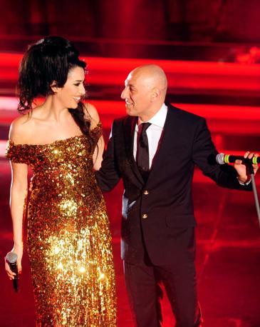 Nina Zilli con Giuliano Palma (Infophoto)