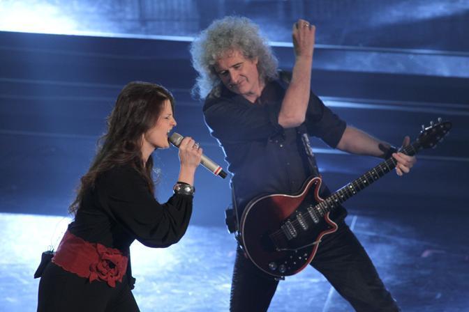Irene Fornaciari con Brian Harold May (Italy Photo Press)