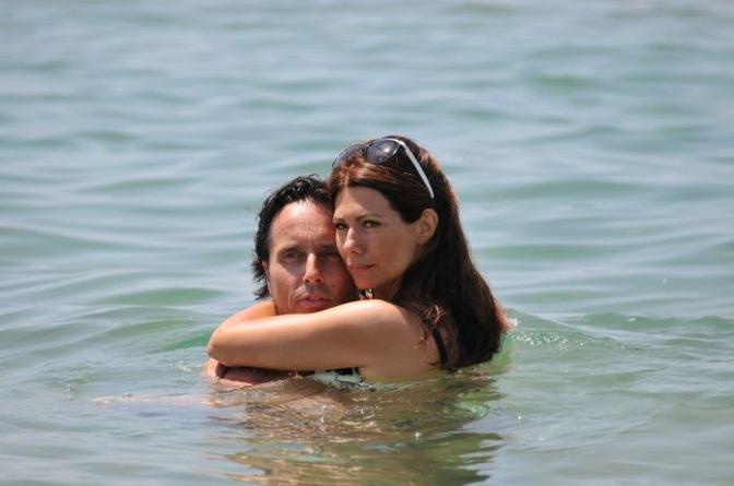 Susanna Messaggio col marito (Olycom)