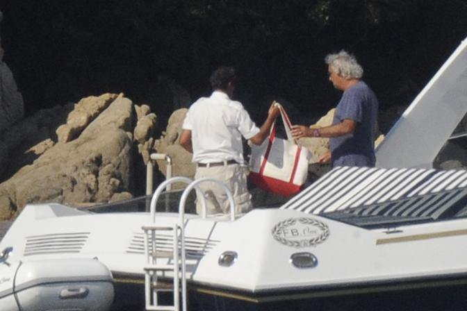 Ecco i primi arrivi a Villa Certosa, in Sardegna. Ospite dell'ex premier Silvio Berlusconi Flavio Briatore (LaPresse)