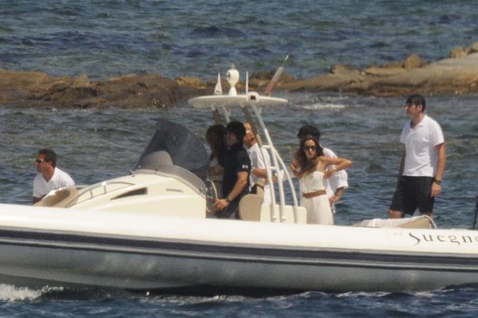 Prime gite in barca per Piersilvio Berlusconi (LaPresse)