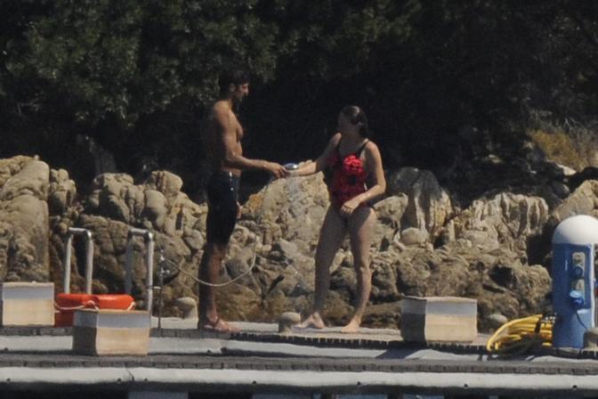 Eleonora Berlusconi con il compagno Guy Binns  (LaPresse)