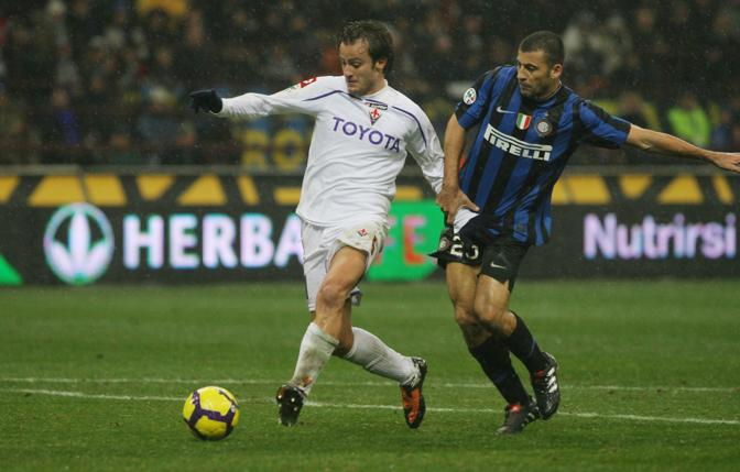 Inter-Fiorentina: Gilardino fallisce un'occasione da gol (Newpress)