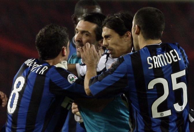 Juventus-Inter: ancora un momento della rissa (Reuters)