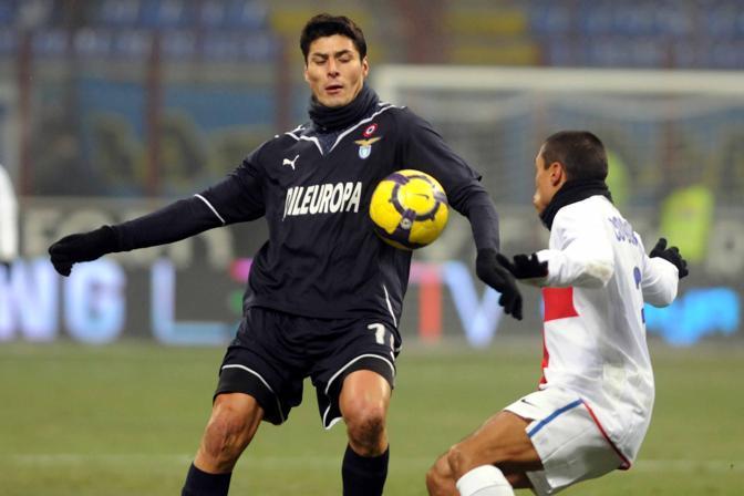 Inter-Lazio: Julio Cruz contro la sua ex squadra (Luca Lussoso/LaPresse)