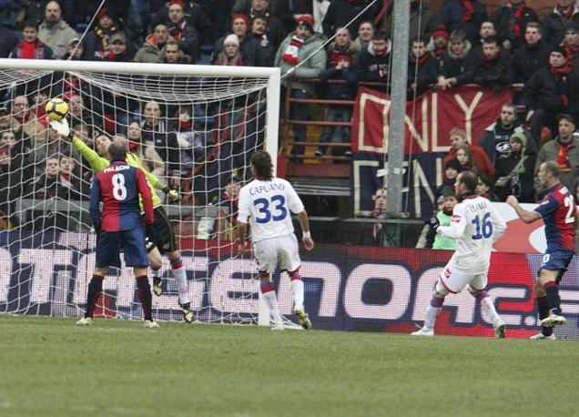 Genoa-Catania: Il gol di Mesto (Ap)