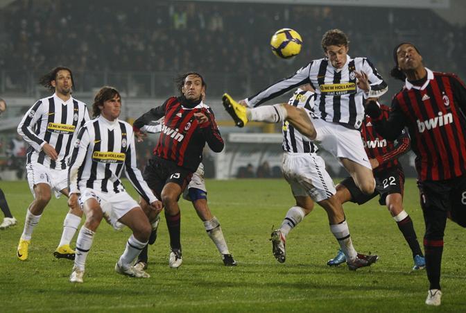 Juventus-Milan: del Piero entra davanti a Ronaldinho (Ap)