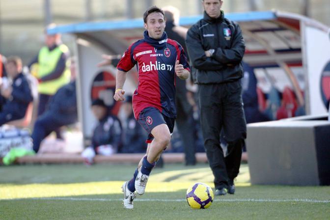 Cagliari-Bari 3-1: Andrea Cossu , autore del primo gol del cagliari (Lapresse)