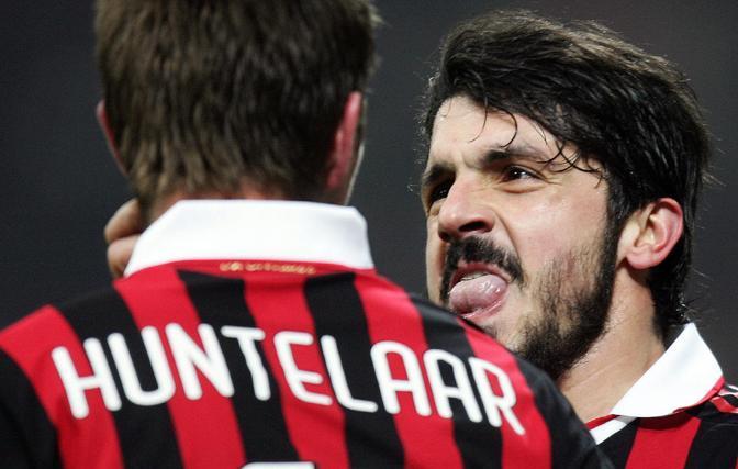 Milan-Udinese: l'esultanza di Gattuso (Ansa)