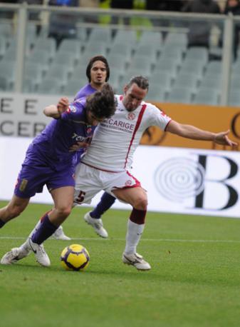 Fiorentina-Livorno: Jovetic  in azione (Lapresse)