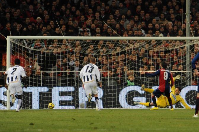 Genoa-Udinese: il rigore di Acquafresca (Liverani)