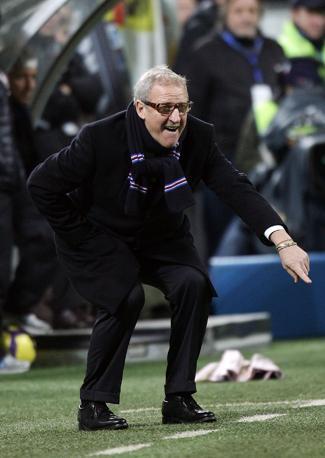Inter-Sampdoria: l'allenatore della Sampdoria Luigi Del Neri (Ansa)