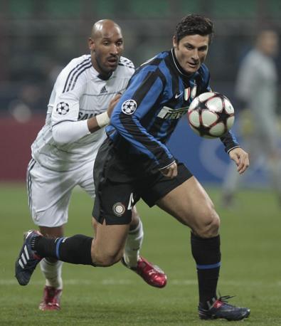 Udinese-Inter 2-3: Zanetti in azione (Omega)