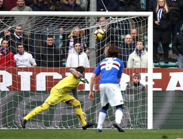Sampdoria-Lazio: il gol di Guberti che riporta in parità la Samp (Pegaso)