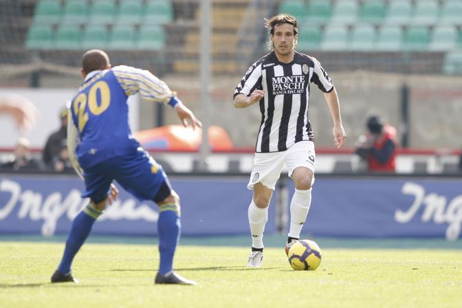 Siena-Parma: Del Grosso in azione (Lapresse)