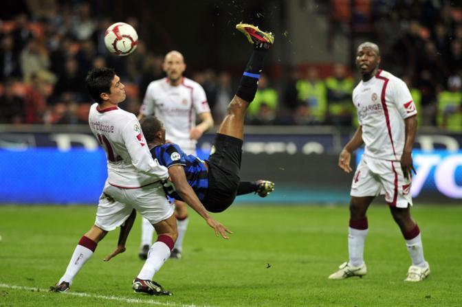 Inter-Livorno: il secondo gol di Eto'o (Afp)