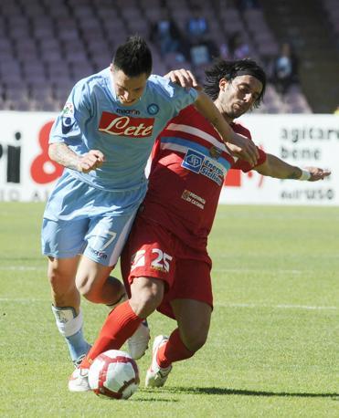 Napoli-Catania 1-0: Marek Hamsik in azione (Ap)