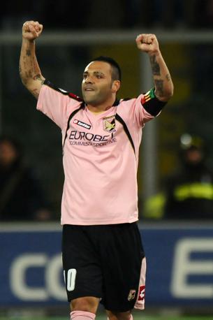 Palermo-Bologna 3-1: Fabrizio Miccoli protagonista assoluto, autore di una tripletta (Epa)