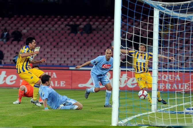 Napoli-Parma: il gol partita realizzato da Jimenez fa sfumare le speranze degli azzurri (Plpress)