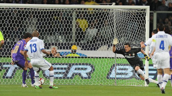 Fiorentina-Inter: Kerrison porta in vantaggio i viola all'11' (Liverani)