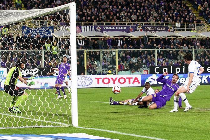 Fiorentina-Inter: Milito segna il gol dell'1-1 (Kines)