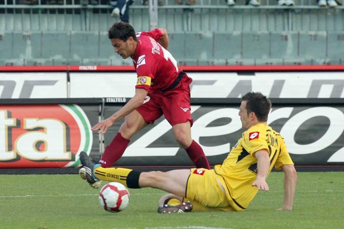 Livorno-Udinese: Tavano al tiro (LaPresse)